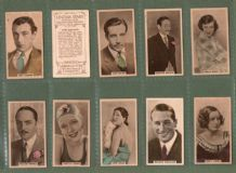 Cigarette cards Film Stars Cinema Stars hand coloured 1934 (1)